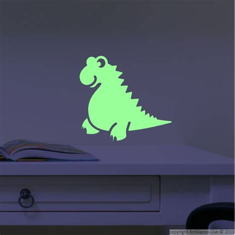 wall sticker glow in the fosforescente wall decals wall decal dinos ambiance