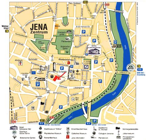 city map guide to bach tour jena city map