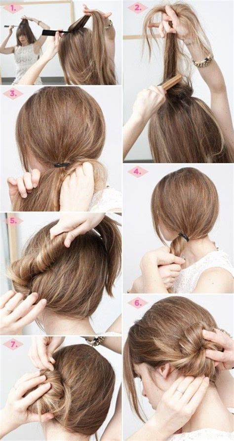 easy and simple hairstyles for office long hair updos steps easy hairstyles step by step