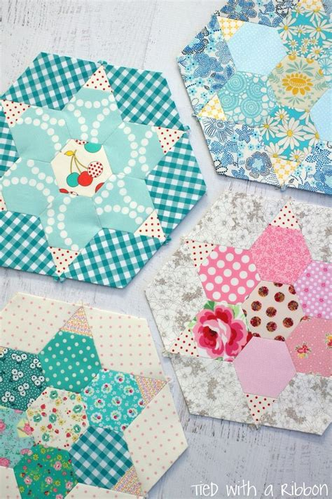 Patchwork Hexagons Patterns Quilt - 990 best hexagons paper piecing images on