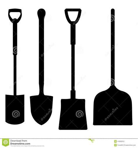 Shovel Silhouette Stock Vector   Image: 41832612