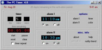 the pc timer an easy to use countdown timer alarm clock