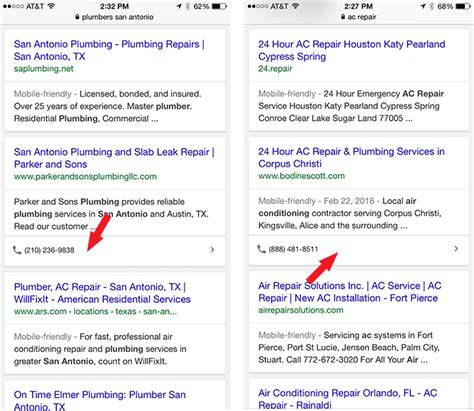 Phone Number Search Engine Tests Clickable Phone Numbers In Organic Search Results
