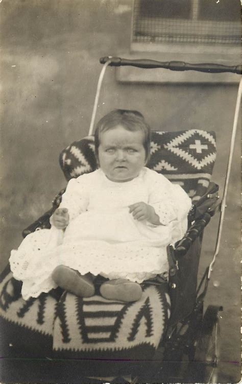 old ugly babies old real photo pc ugly baby in stroller w navajo blanket