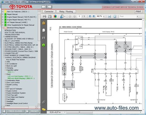 online car repair manuals free 2003 toyota echo navigation system toyota yaris verso echo verso repair manuals download wiring diagram electronic parts