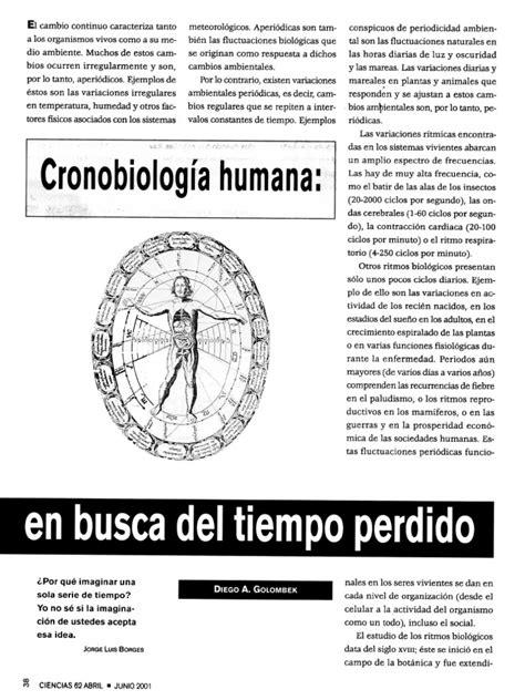 Golombek Diego - Cronobiologia Humana en Busca Del Tiempo