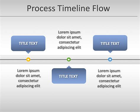free simple process timeline chart template for powerpoint