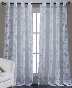 Calvin Klein Shower Curtains Kensie Home Sheer Burnout 55 Quot X 84 Quot Panel Curtains Drapes Macy S