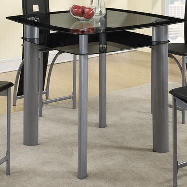 Counter Height Glass Top Dining Table Black Square Tempered Glass Top Counter Height Dining Table By Poundex Manurics
