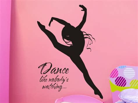 dancer wall stickers wall decal like nobodys with dancer by vgwalldecals