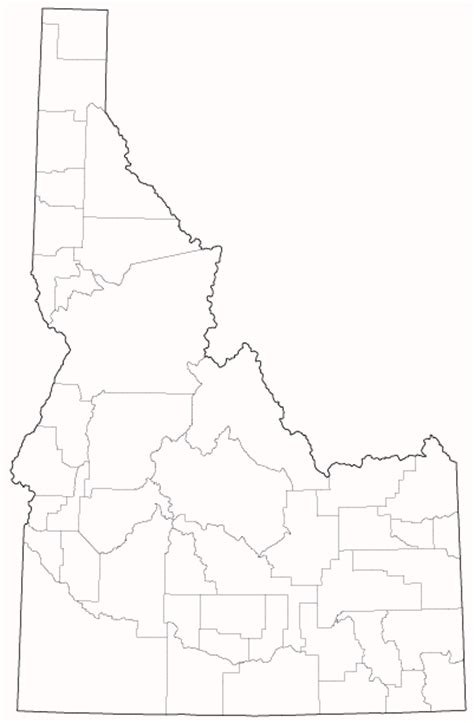 Idaho County Map Outline by Census Of Agriculture 2007 Census Publications State And County Profiles Idaho