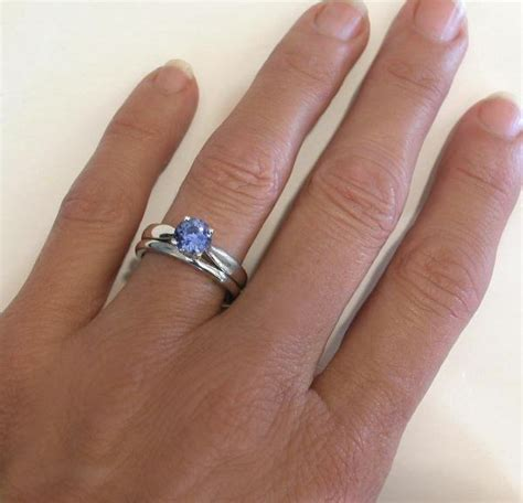 ceylon sapphire solitaire engagement ring and