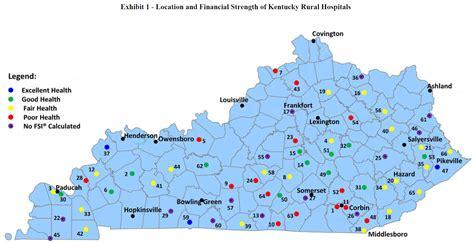 kentucky hospitals map kentucky health news march 2015