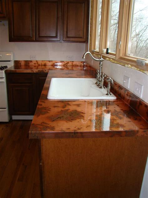 Copper Kitchen Countertops The Kitchen And Diy Copper Countertops Gorgeous Countertops Pinte