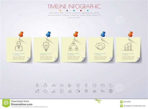 How To Make A Timeline On Paper - paper timeline infographics with icons set stock vector