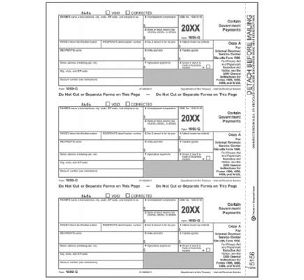 Tax Form 1099 G Federal Copy A Free Shipping 1099 Copy A Template