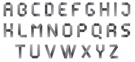 Folded Paper Font - numerology uni