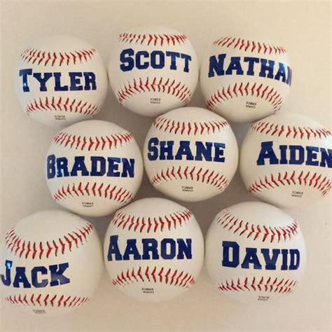 unique gifts for baseball fans personalized baseballs fun party favor for baseball theme