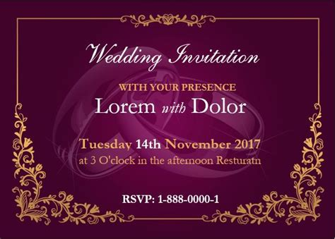 Wedding Invitation Card Exle by Professionally Design Wedding Invitation Card Template