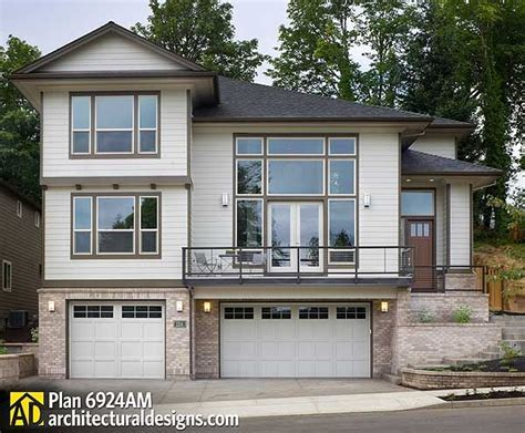 front sloping lot house plans plan 6924am for a front sloping lot house plans exterior colors and we
