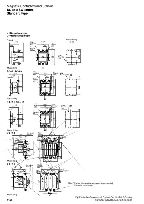 magnetic contactor schematic diagram dec2001 contactor
