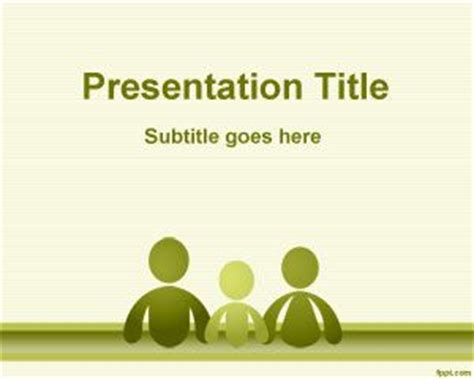 free powerpoint templates family family social sciences powerpoint template is a free green