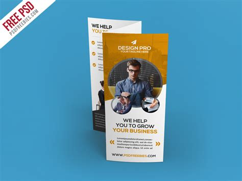 Corporate Brochure Design Psd Free by Corporate Trifold Brochure Template Free Psd Psdfreebies