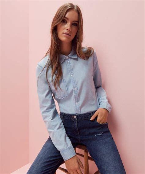 imagenes de blusas vaqueras camisa vaquera de mujer para combinar con jeans primark