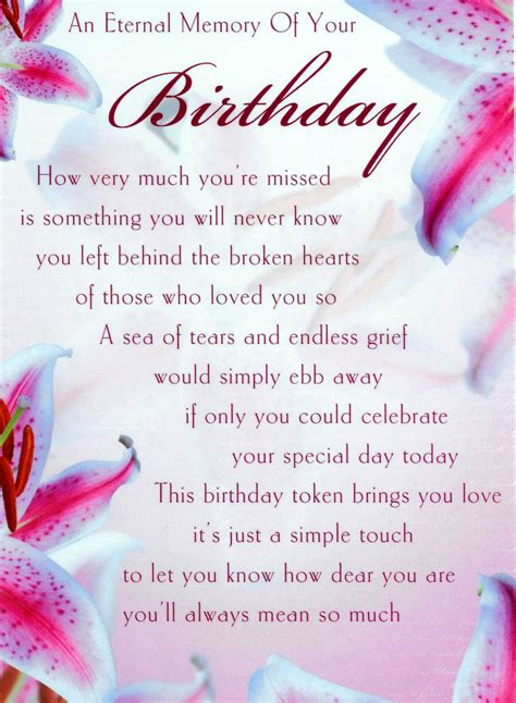 Birthday Quotes For Who Has Away Happy Birthday Poem For A Mom That Passed Away Happy
