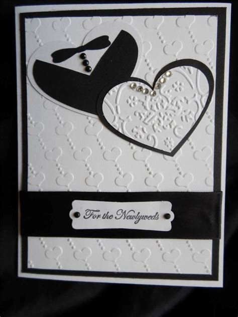 Handmade Stin Up Cards - handmade wedding card black white tuxedo rhinestones