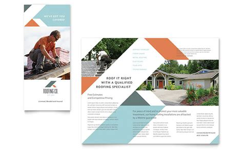 Roofing Company Brochure Template Design Roofing Flyer Templates