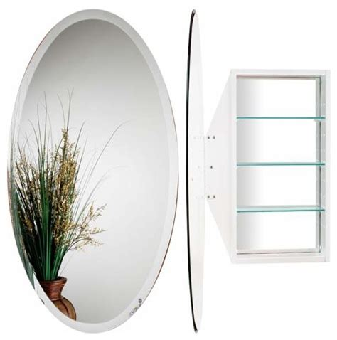 white oval bathroom mirror alno creations oval mirror cabinet white mc4910 w