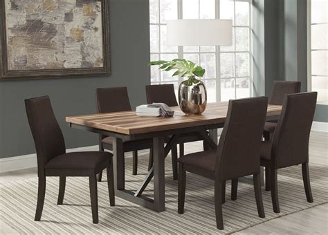 espresso dining room set spring creek brown espresso extendable dining room set
