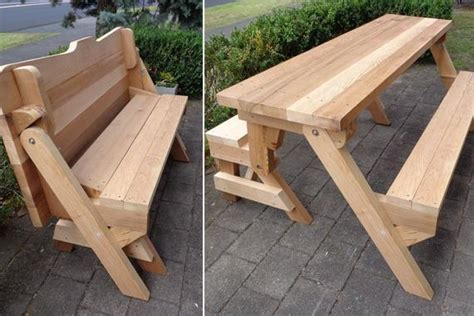 piece folding bench  picnic table plans