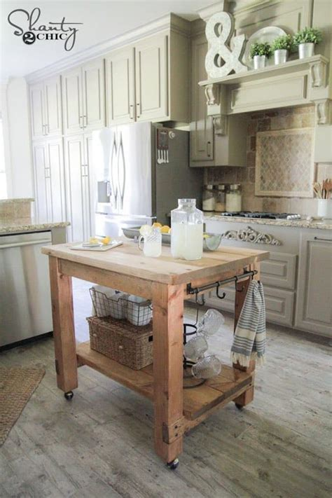 Rolling Kitchen Island Ideas Simple Diy Kitchen Island Ideas For Everyone Diy Projects