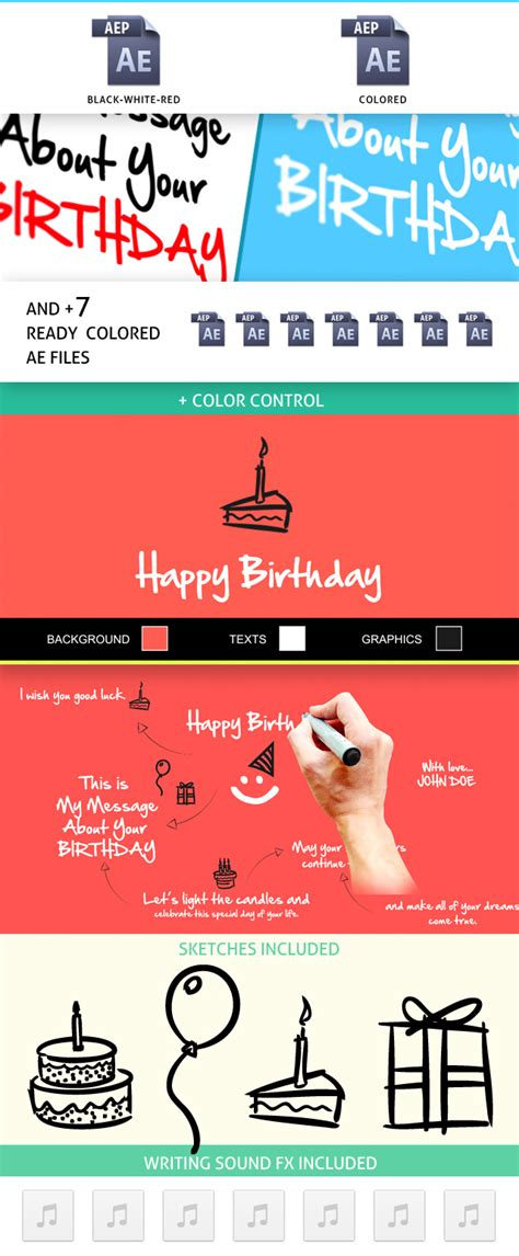 birthday animation special events envato videohive