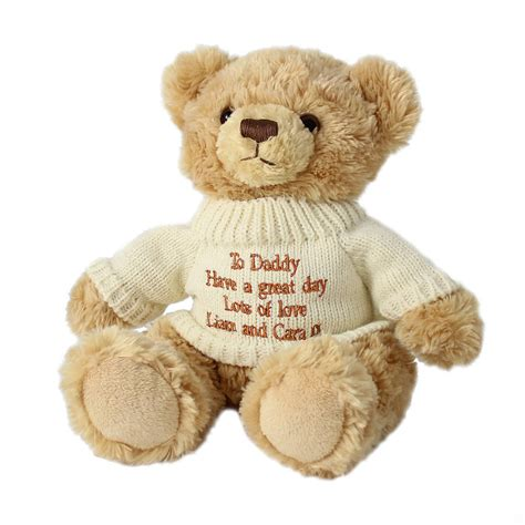 personalised bridesmaid page boy teddy bear by british and