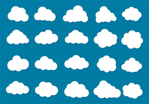free vector cloud free vector 6932 free downloads