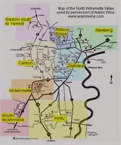 valley oregon map wine a visit to willamette valley s wineries part i on