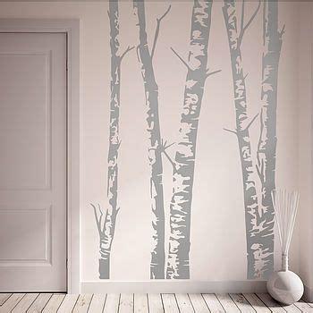 Big Frame Tree Wallsticker silver birch trees vinyl wall sticker a s p e n