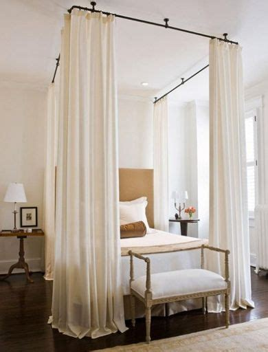 diy canopy bed with curtain rods pin by jessica mcwilliams spickes on misc pinterest