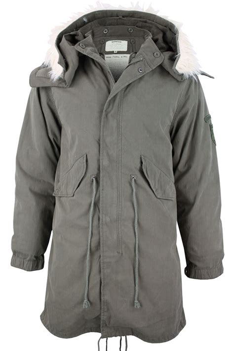 Longcoat Finny Navy Jaket Sweater 0109 mens lambretta mod retro fish parka jacket coat hooded m51 style khaki ebay