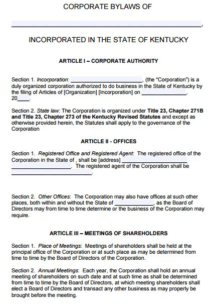 bylaws template for corporation board of directors bylaws template