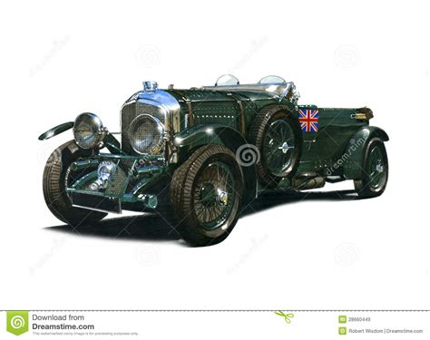 classic bentley vintage 4 and a half litre blower bentley editorial stock