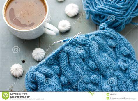 alpaca yarn pattern knitting knitting a turquoise pattern on the circular needles stock