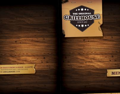 bar and grill menu templates grill restaurant menu template on behance