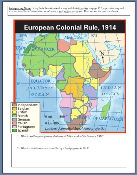 pattern of colonial rule in east africa unit7assignments page2 mrrodriguez23