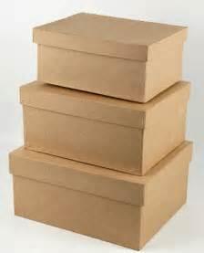 Long Rectangle Vase Paper Mache Boxes Set Of 3
