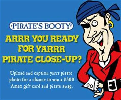 International Gift Cards American Express - win 500 american express gift card pirate s booty contest