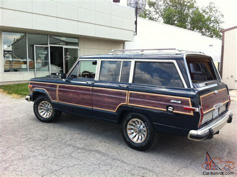1987 jeep wagoneer 1987 jeep grand wagoneer ca car now in mw storage
